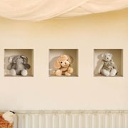 Nisha 3D Effect Nursery Stuffed Toy Wall Mural