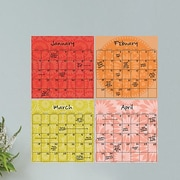 WallPops! Dry Erase 4 Piece Carnival  Calendar Board Wall Decal