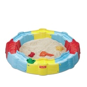 Fisher-Price N Play Build-a-Box 3' Round Sandbox with Cover