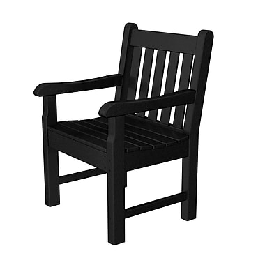 POLYWOOD Rockford Dining Arm Chair; Black
