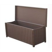 Eagle One Brisbane 65 Gallon Manufactured Wood Outdoor Deck Box; Brown