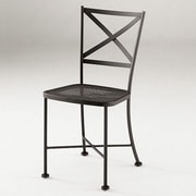 Woodard Cafe Classics Genoa Side Chair; Graphite
