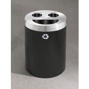 Glaro, Inc. RecyclePro Triple Stream 33 Gallon Multi Compartment Recycling Bin; Black