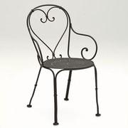 Woodard Parisienne Dining Arm Chair; Graphite