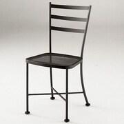 Woodard Cafe Classics Marsala Side Chair; Graphite