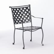 Woodard Maddox Stacking Dining Arm Chair; Graphite