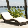 Source Outdoor Wave Chaise Lounge with Cushion; Sunbrella Vellum