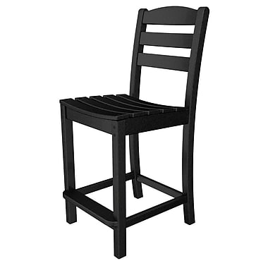 POLYWOOD La Casa Caf 24.13'' Bar Stool; Black