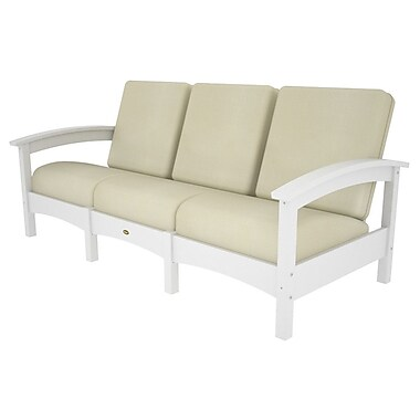 Trex Rockport Club Sofa; Classic White / Bird's Eye