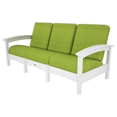 Trex Rockport Club Sofa; Classic White / Macaw