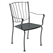 Woodard Aurora Stacking Dining Arm Chair; Graphite
