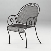 Woodard Cantebury Barrel Dining Arm Chair; Graphite
