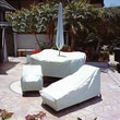 Dayva Vinyl Square or Round Table & 4 Chair Covers