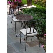 Alfresco Home Ponza Granite 3 Piece Bistro Set w/ Cushions