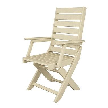 POLYWOOD Captain Dining Arm Chair; Sand