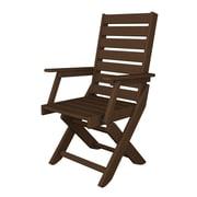 POLYWOOD  Captain Dining Arm Chair; Mahogany
