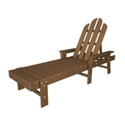 POLYWOOD  Long Island Chaise Lounge; Teak