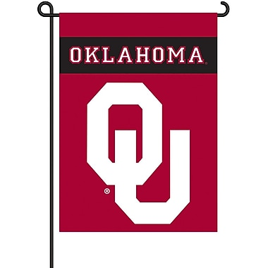 BSI Products NCAA 2-Sided Garden Flag Set; Oklahoma