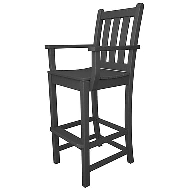 POLYWOOD Traditional 30'' Bar Stool; Slate Grey
