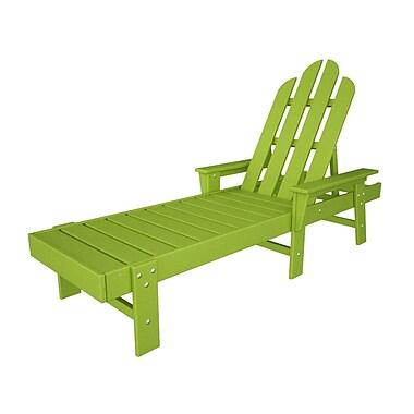 POLYWOOD Long Island Chaise Lounge; Lime