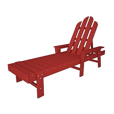 POLYWOOD Long Island Chaise Lounge; Sunset Red