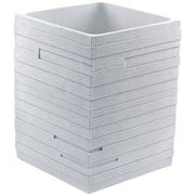 Gedy by Nameeks Quadrott Waste Basket; White