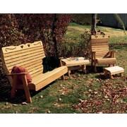 Creekvine Designs Cedar Twin Ponds Rocking Glider Chair Set; White Stain