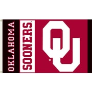 BSI Products NCAA Traditional Flag; Oklahoma - OU Logo on Red