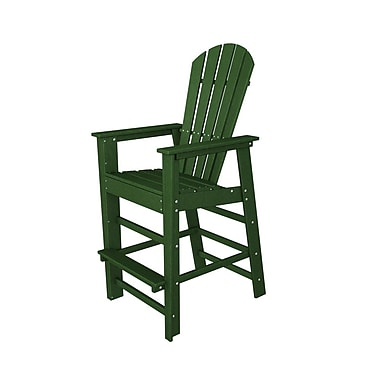 POLYWOOD South Beach 30'' Bar Stool; Green