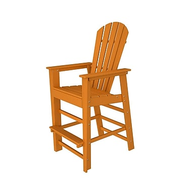 POLYWOOD South Beach 30'' Bar Stool; Tangerine