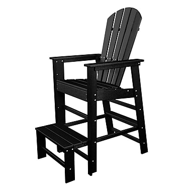 POLYWOOD South Beach 30'' Bar Stool; Black