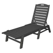 POLYWOOD  Nautical Chaise Lounge ; Slate Grey