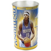 Wincraft NBA 4 Gallon Metal Trash Can; Denver Nuggets - Carmelo Anthony