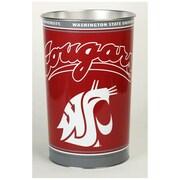 Wincraft NCAA 4 Gallon Metal Trash Can; Washington State