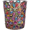 Oriental Furniture Bejeweled Flower Waste Basket