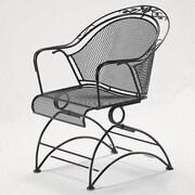 Woodard Windflower Coil Spring Barrel Dining Arm Chair; Tuscan Sand