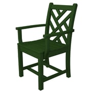 POLYWOOD  Chippendale Dining Arm Chair; Green