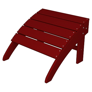 POLYWOOD South Beach Adirondack Ottoman; Sunset Red