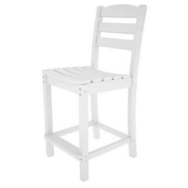 POLYWOOD La Casa Caf 24.13'' Bar Stool; White
