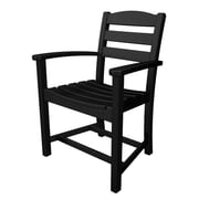POLYWOOD  La Casa Cafe Dining Arm Chair; Black