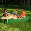 Sandlock Square Sandbox with Cover; 5' x 5'