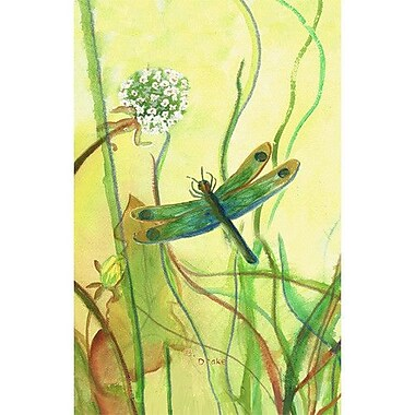 Betsy Drake Interiors Dragonfly Vertical Flag; 12'' W x 18'' H
