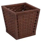 Household Essentials Wicker Waste Basket; Brown