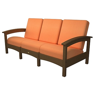 Trex Rockport Club Sofa; Tree House / Tangerine
