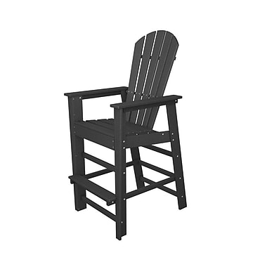 POLYWOOD South Beach 30'' Bar Stool; Slate Grey