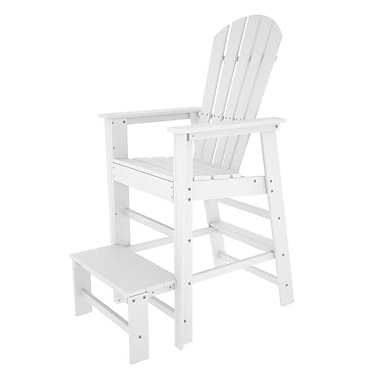 POLYWOOD South Beach 30'' Bar Stool; White