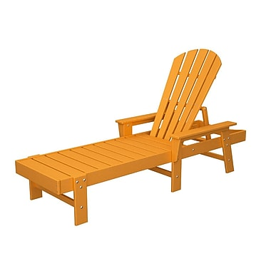 POLYWOOD South Beach Chaise Lounge; Tangerine