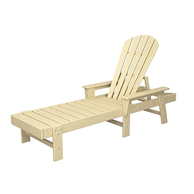 POLYWOOD South Beach Chaise Lounge; Sand