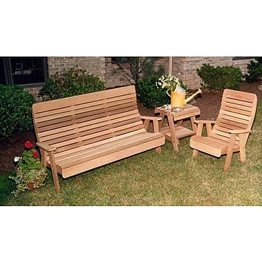 Creekvine Designs Cedar Twin Ponds Bench and Chair Collection; White Stain
