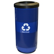 Witt Metal Recycling 20-Gal Perforated Industrial Recycling Bin; Round Hole